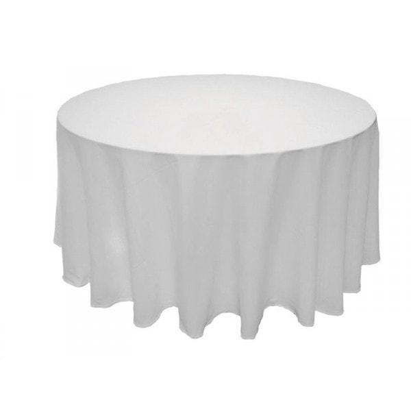 nappe ronde 240 cm coton blanc
