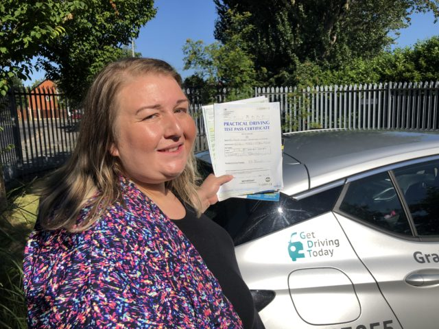Donna passed her driving test in Bolton after taking driving lessons in Bury
