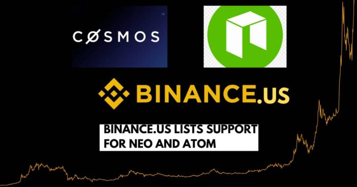 Binance.US Lists NEO (NEO) and Cosmos (ATOM)