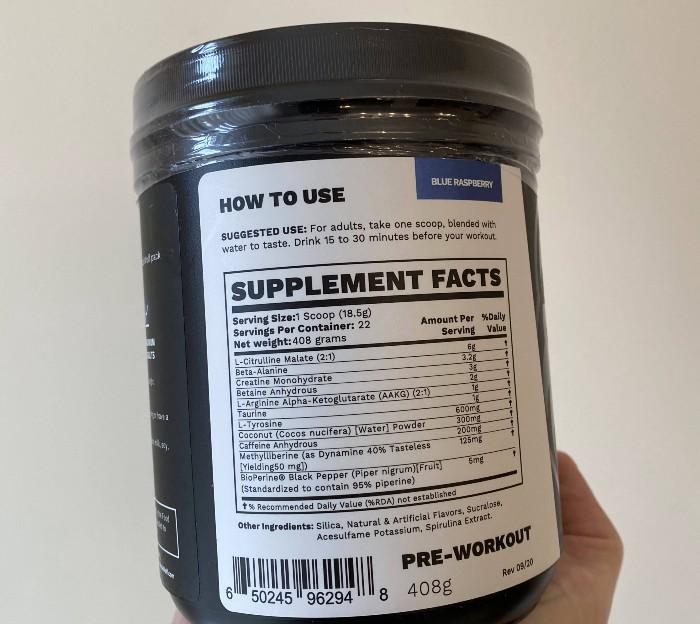 BlackWolf Ingredients