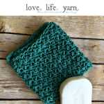 Heavenly Textured Free Crochet Washcloth Pattern Love Life Yarn