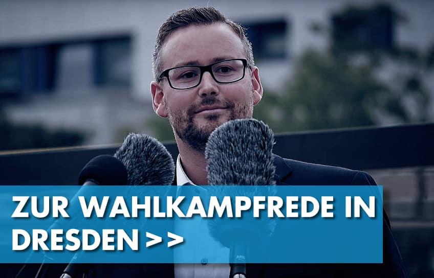 Zur Wahlkampfrede in Dresden von Sebastian Münzenmaier