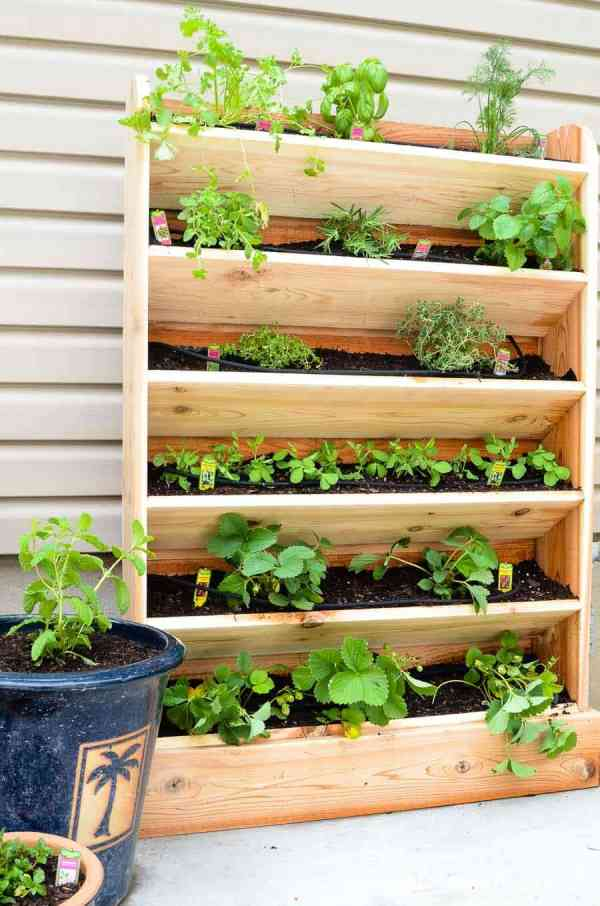 diy vertical garden with drip watering system by houseful of handmade