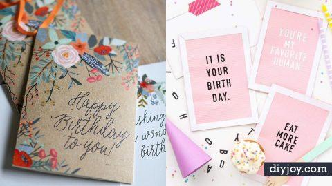 30 Handmade Birthday Card Ideas