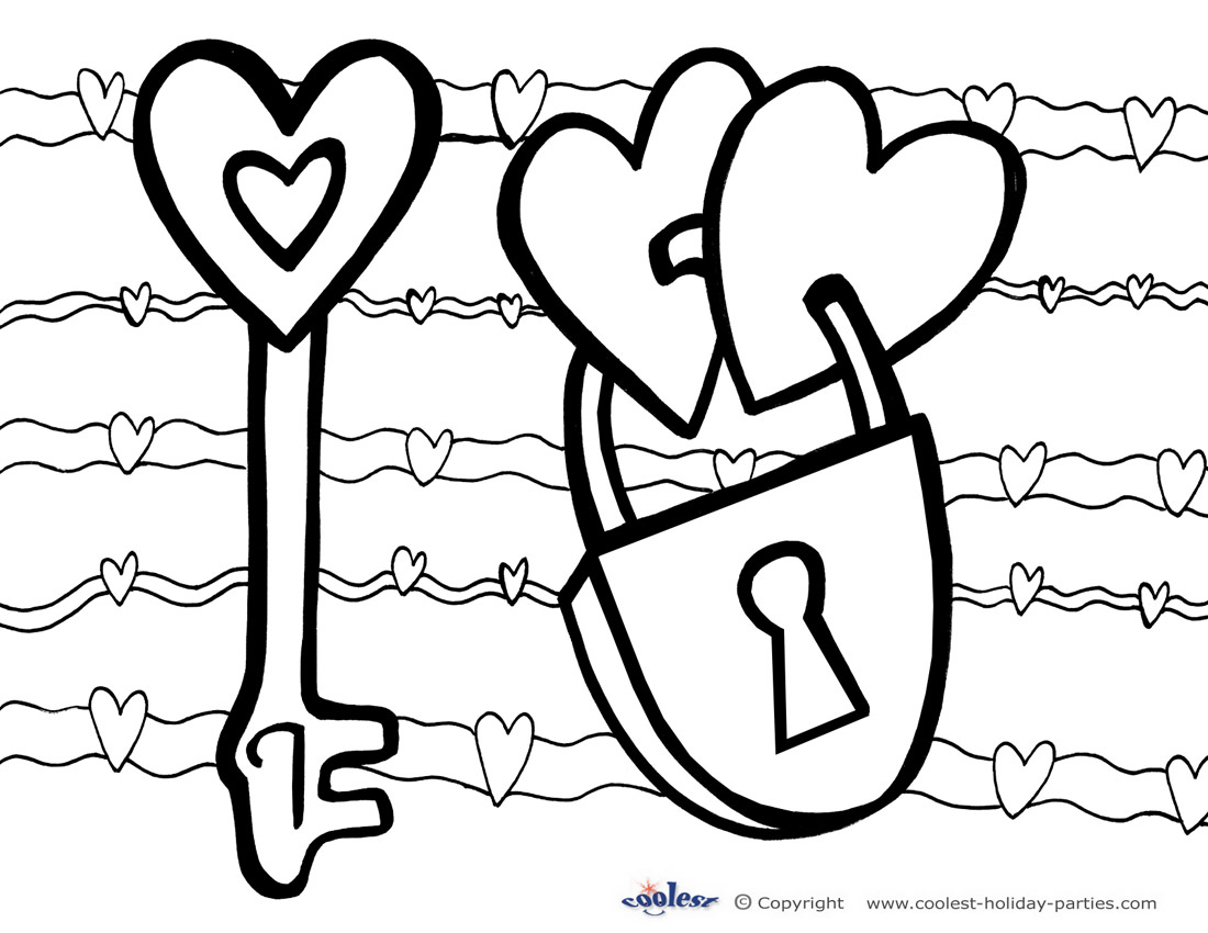 Printable Valentine S Day Coloring Page 2