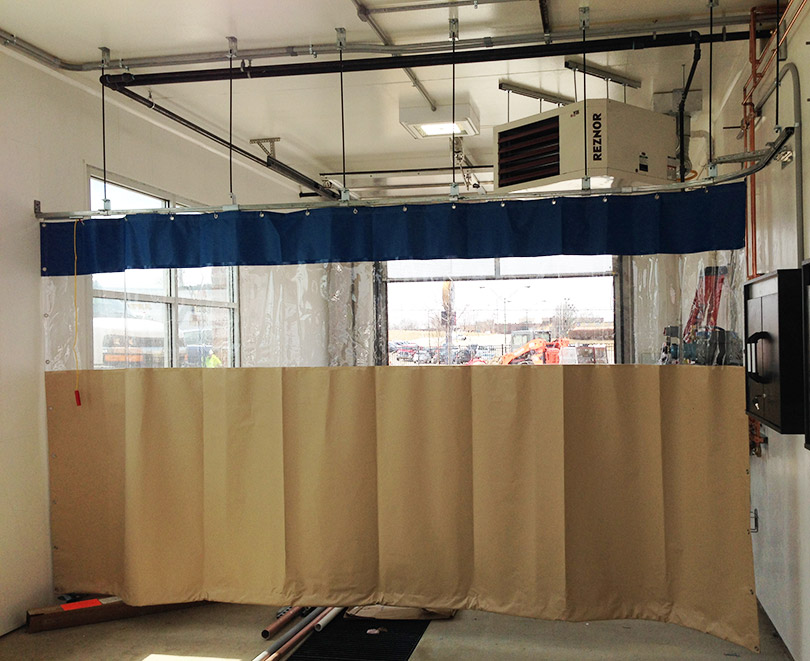 curtain walls from loading dock