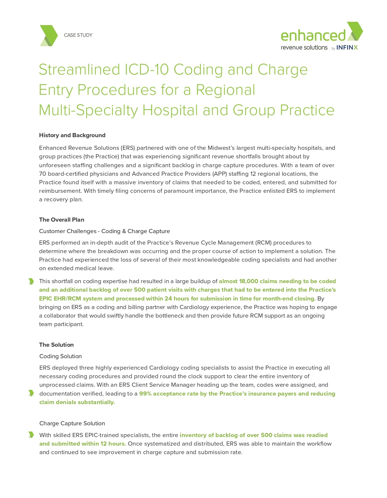 Icd 10 Coding And Charge Entry Procedures For Hospital And