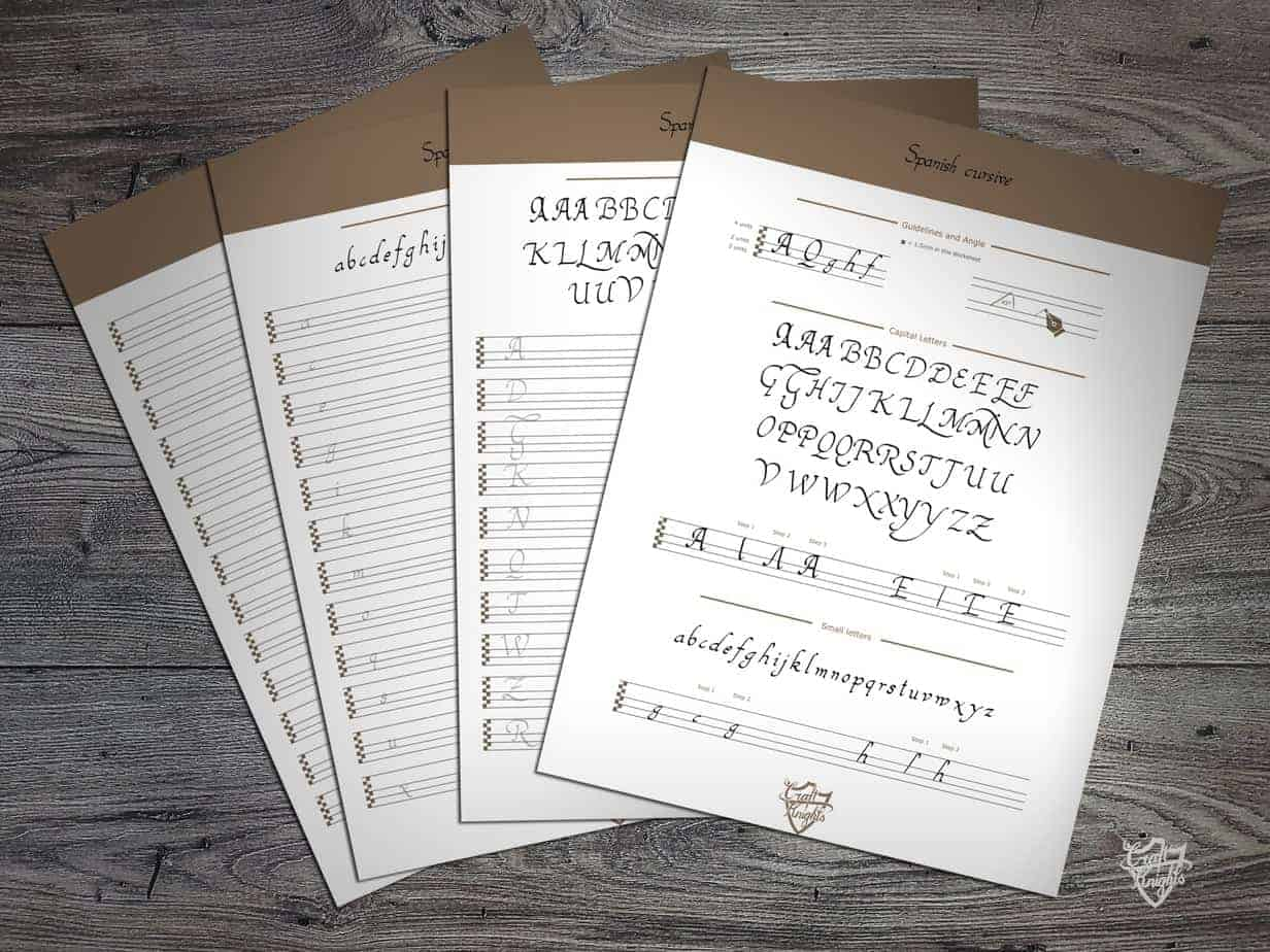 A Free Printable Handwriting Worksheet For The Spanish