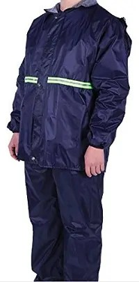 TARKAN Men's PVC Double Layer Windproof, Waterproof Raincoat