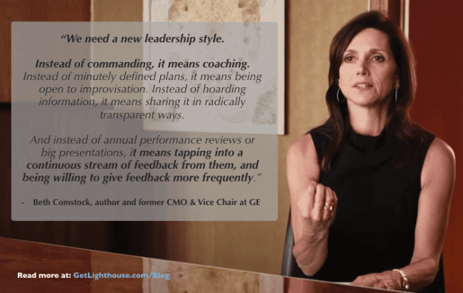 Beth Comstock on leaders becoming coaches and having more effective 1:1s
