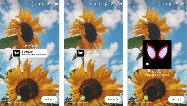 Publish the Instagram Story - How to add music to instagram story: Follow this Step