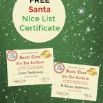 Santa Nice List Certificate Free And Fun Kiddycharts Com