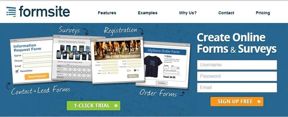 FormSite - Ferramenta de criação de formulários on-line