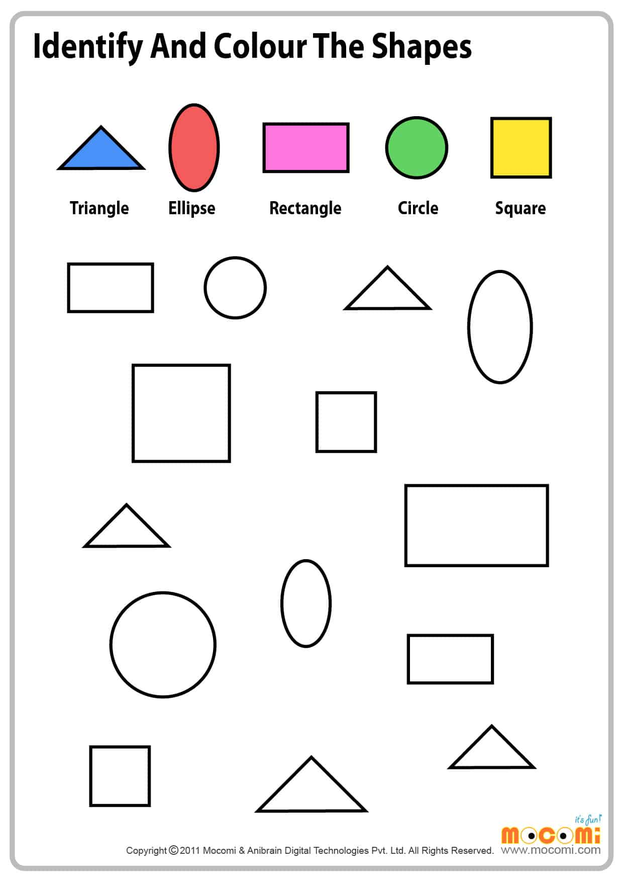 Colour Similar Shapes