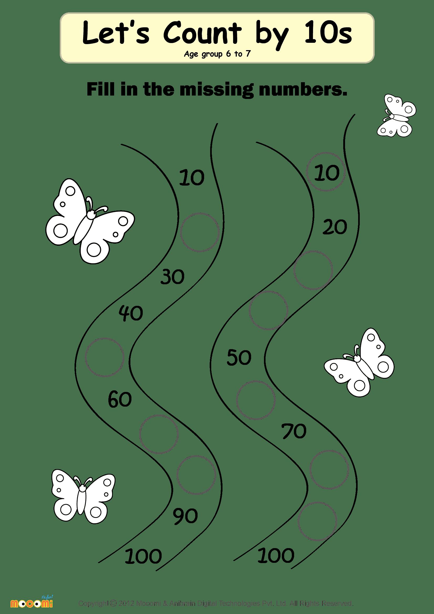 Missing Numbers Worksheet 02