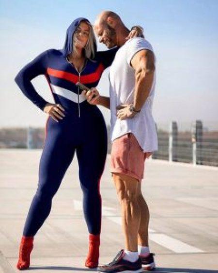 Mia Sand with her Husband, Rune Jakobsen.