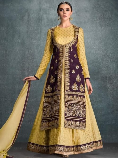 Ladies Salwar Suit with Jacket Design