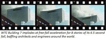Foto des sequentiellen Einsturzes des WTC-Gebäudes 7