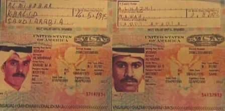 Foto von al-Mihdar und al-Hazmi Visa