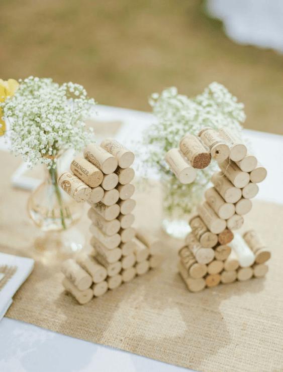 des bouchons de liege pour un mariage