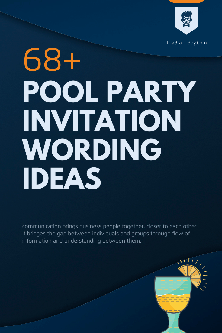 perfect pool party invitation wording