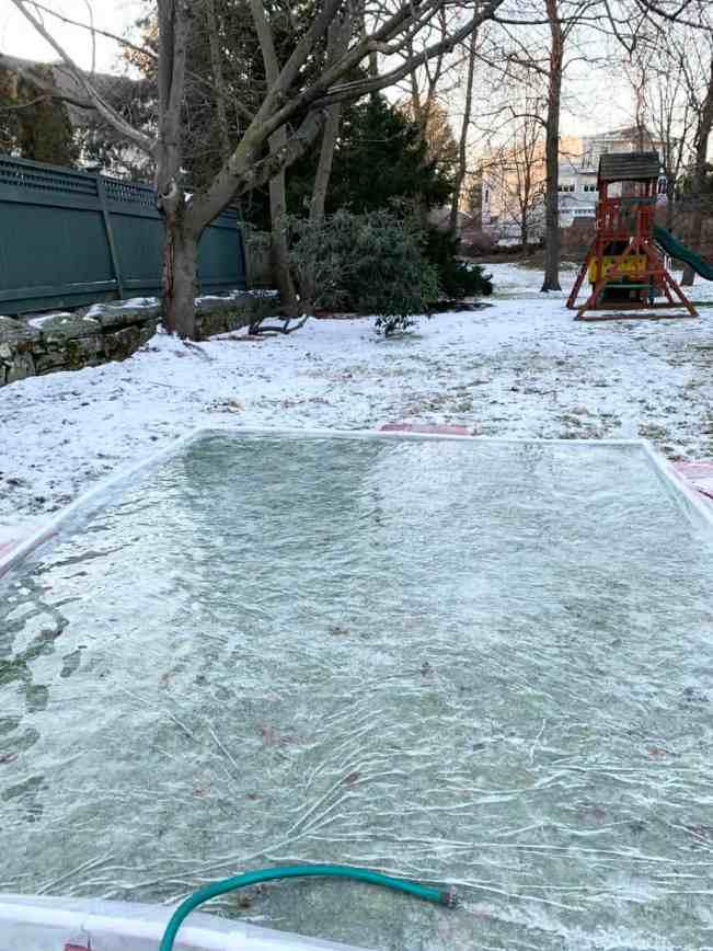 building a backyard ice rink