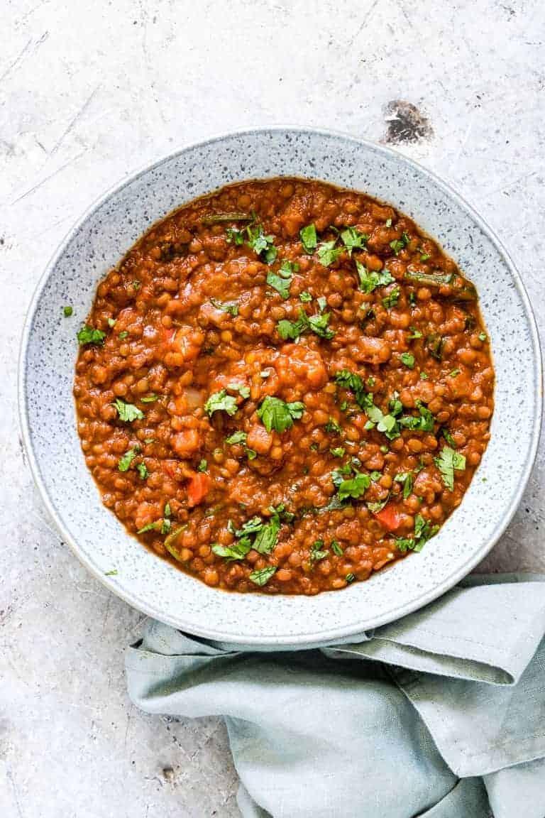 Instant Pot Mexican Lentil Stew
