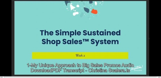 The Simple Sustained Shop Sales System by Christina Scalera buy