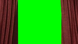 animated stage red curtain zoom green