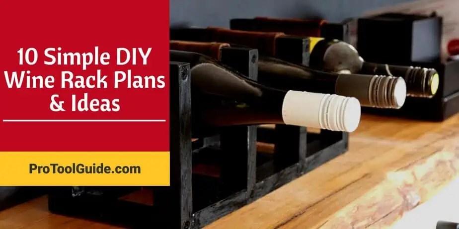 10 simple diy wine rack plans ideas