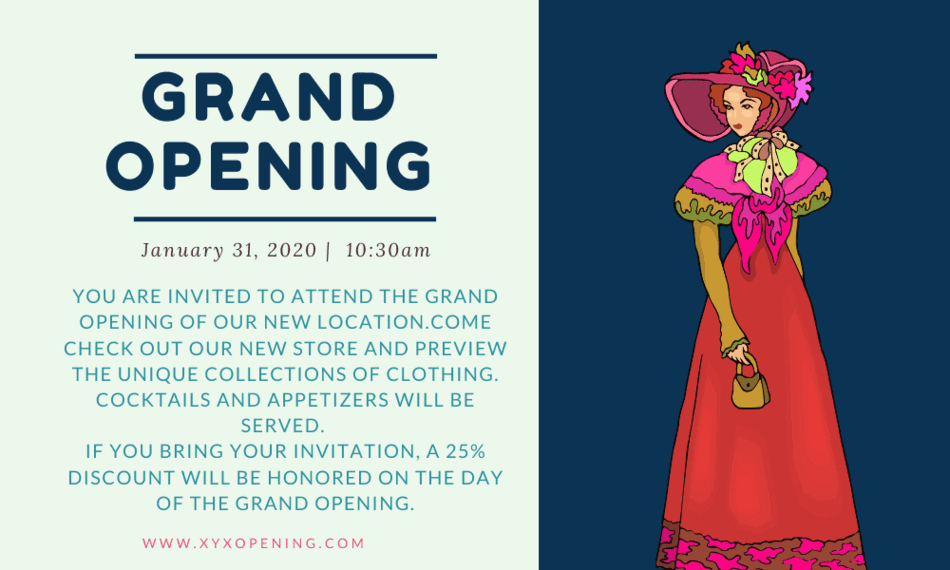 top grand opening invitations wording