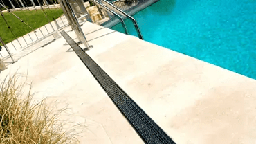 pool deck drainage trench drain systems