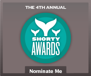 Nominate Joe Gande for a social media award in the Shorty Awards!