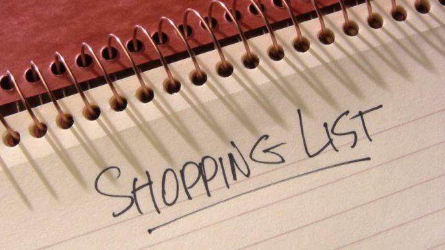 Image result for handwritten shopping list