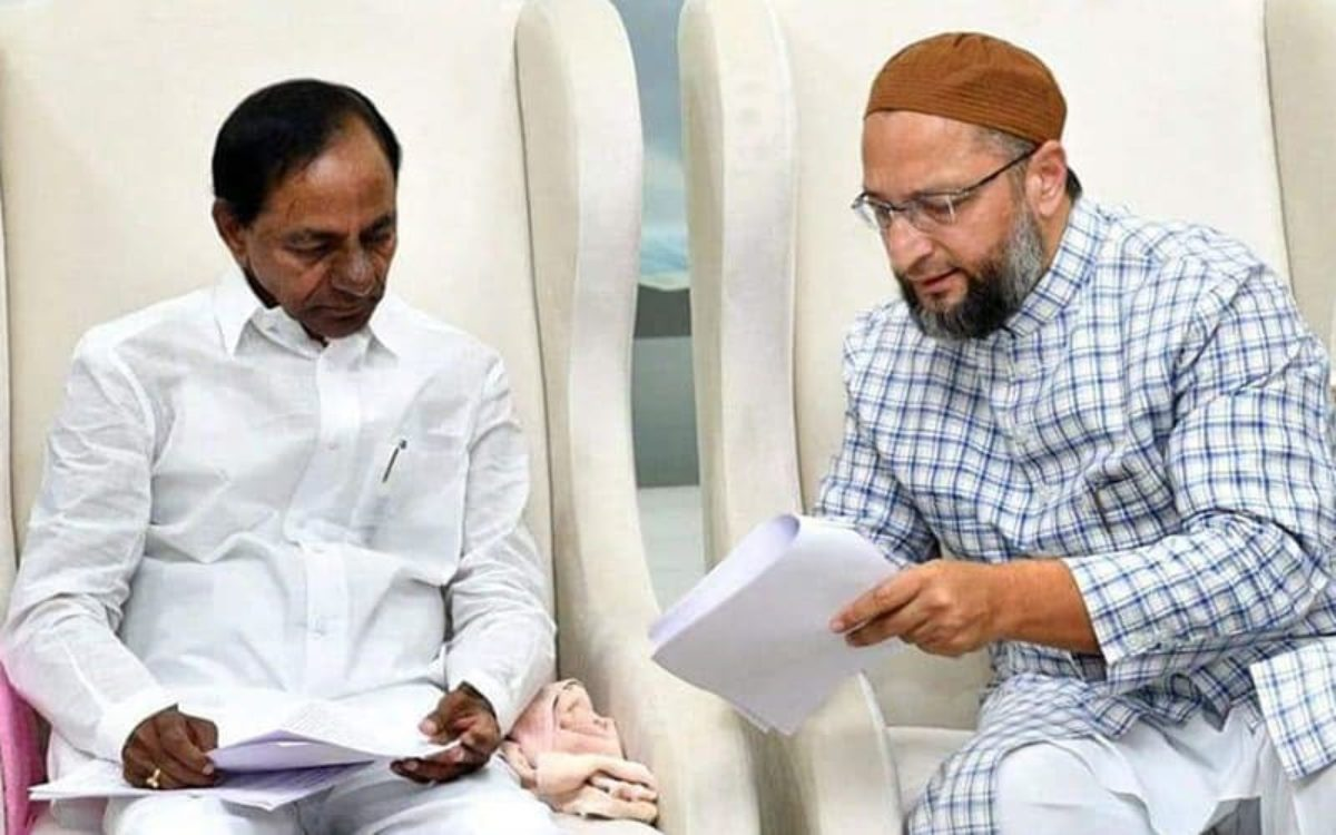 Image result for kcr and owaisi