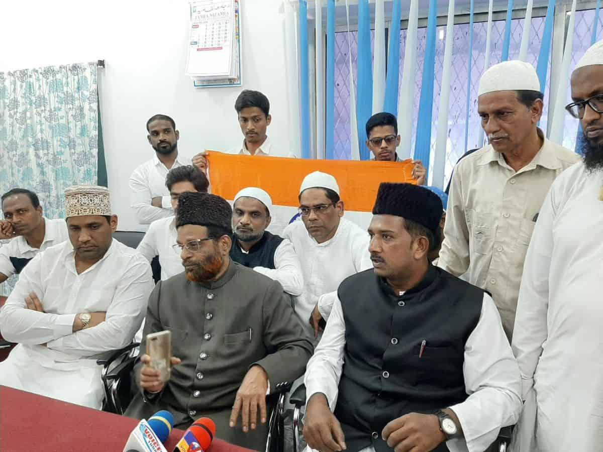 हैदराबाद में मुसलमान नहीं भेरेंगे एनपीआर,एनआरसी फॉर्म, दिलाई गई शपथ 2