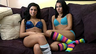 Teen lesbo action image