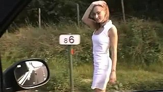 Image: Euro babe getting fucked on a roadside