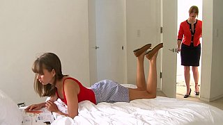 Lesbian step-mom_and her cute daughter image