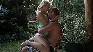 Young Leony April in romantic sex image