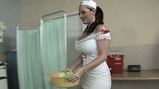 Compassionate nurse with big tits image