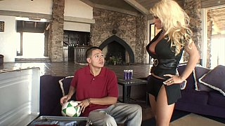 Blonde mom gets drilled by her_step-son image