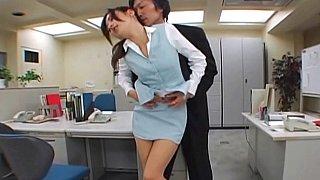 Image: Japanese office sex. Pantyhose fetish