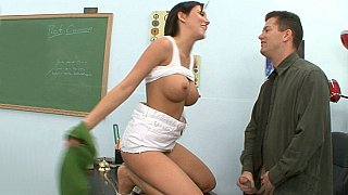 Mindy Main gets fucked to pass the exams image