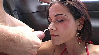 Miss Raquel gets her ass fucked, face spermed image