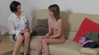 Lesbian Milf pleasuring_young pussy image
