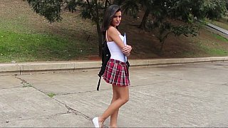 college girl fucked forest during picnic session Online scene » Azilian college girl gets fucked by two image