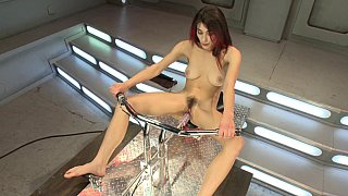 Image: Raven Rockette gets fucked by the machine