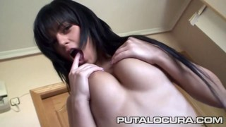 Czech Black Angelika swallows his cum image