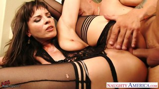 Small breasted brunette Dana DeArmond jump anally image